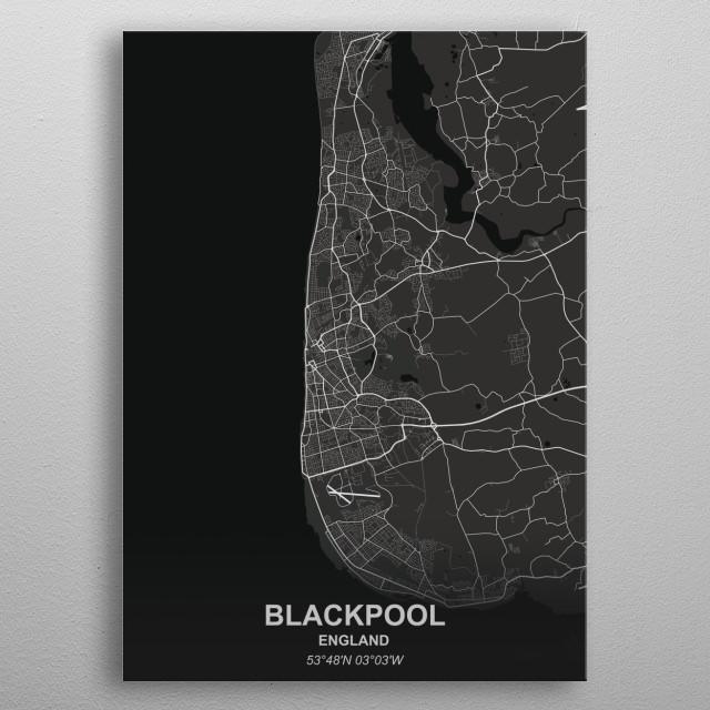 BLACKPOOL  ENGLAND metal poster
