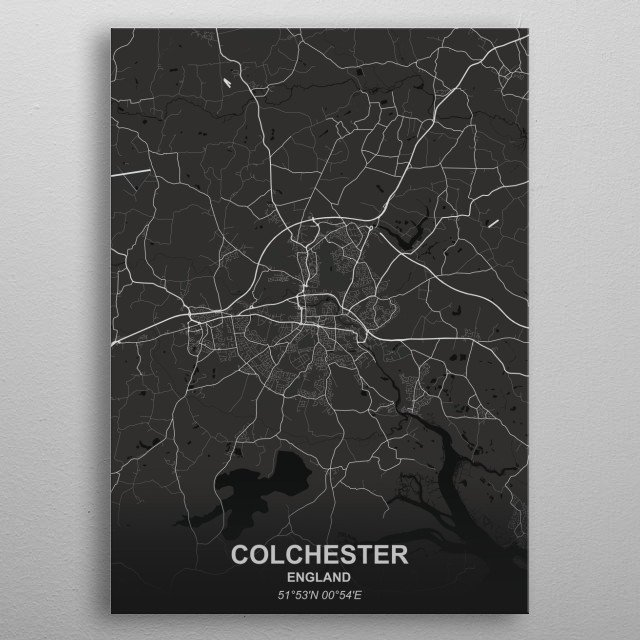 COLCHESTER  ENGLAND metal poster
