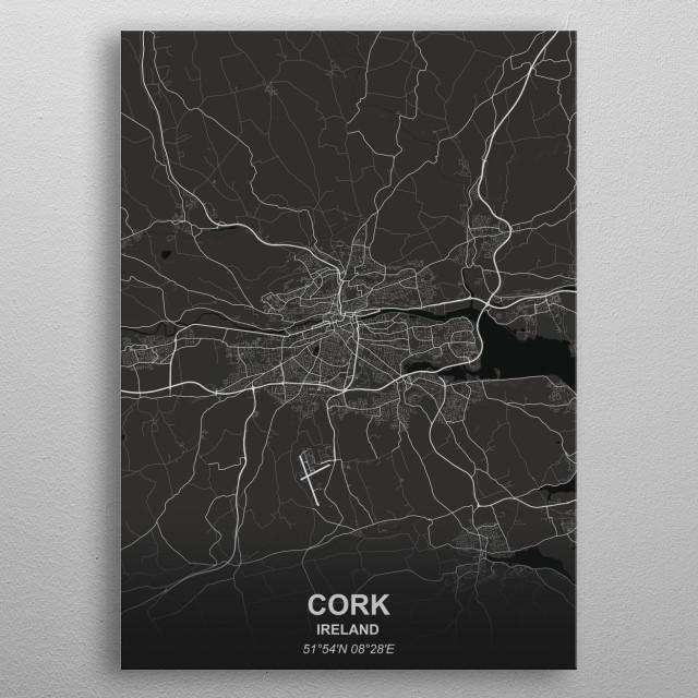 CORK  IRELAND metal poster