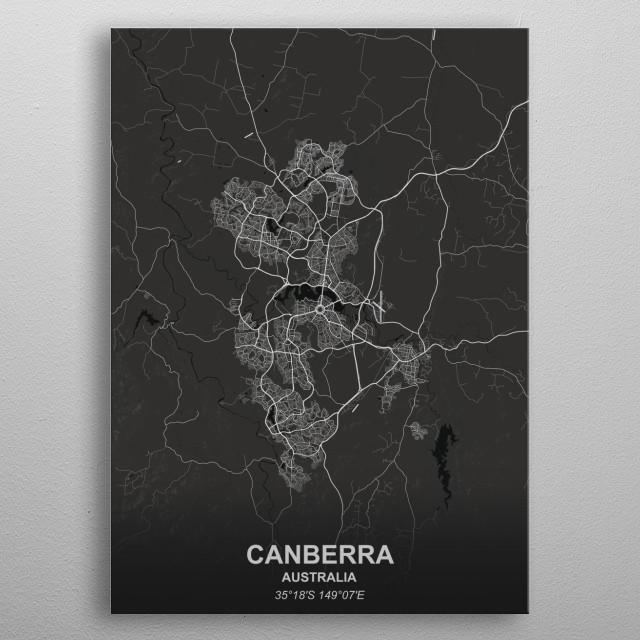 CANBERRA  AUSTRALIA metal poster