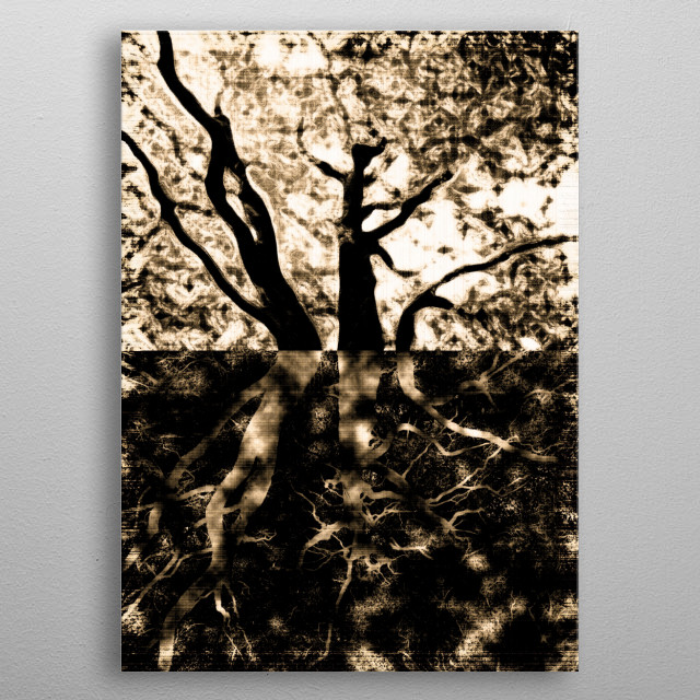 Originally a photograph I have digitally manipulated it to create this unusual artwork. metal poster