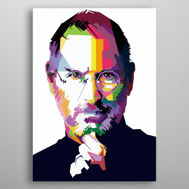 Steven Paul Jobs: February 24, 1955 – October 5, 2011) was an American business magnate and investor. He was the chairman metal poster