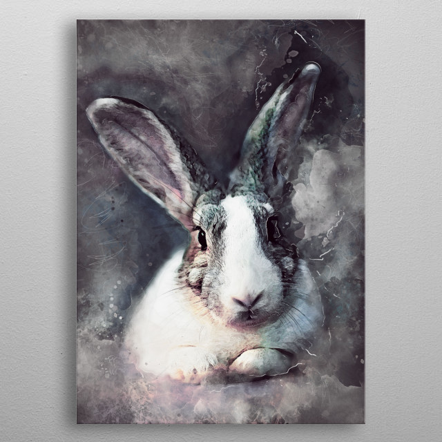 Rabbit metal poster
