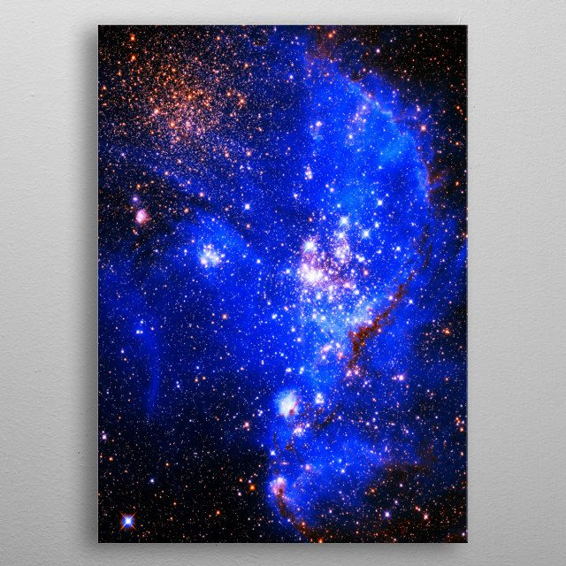Digitally-enhanced version of an HST image of the Magellanic Cloud metal poster