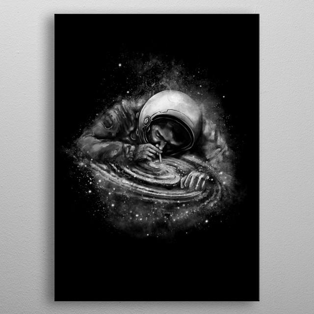 Inhale cosmic elements. metal poster