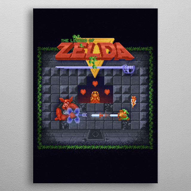 The Zelda of Legend by Likelikes metal poster