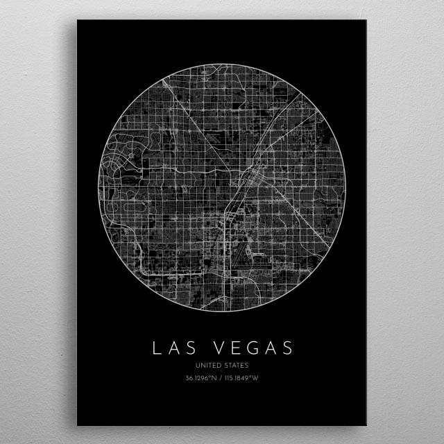 Las Vegas United States by Yak Yak | metal posters - Displate