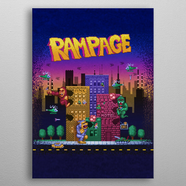 Page Ram by Likelikes metal poster
