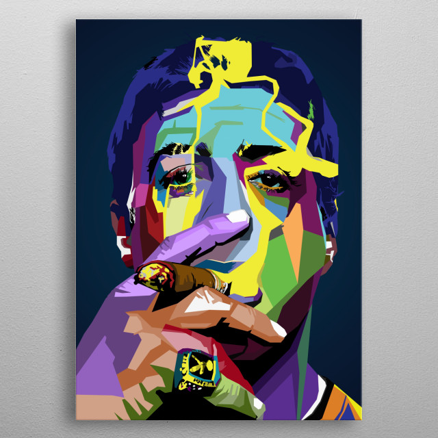 Rocky Sylvester Stallone Actor film wpap pop art metal poster