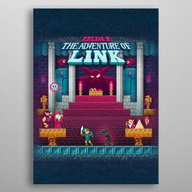 The Link Adventure of Zelda, Too by Likelikes metal poster