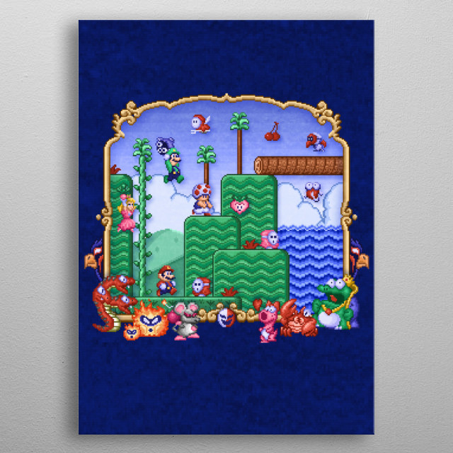 Mario Super Bros, Too by Likelikes metal poster