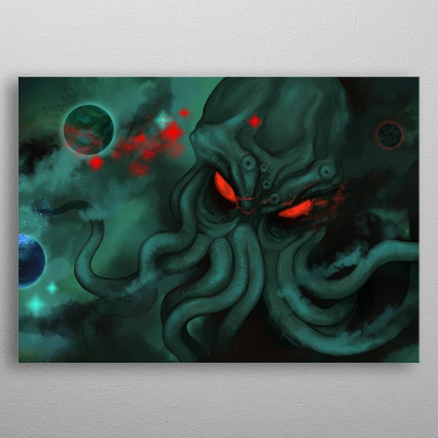 Are you afraid of the abyss? Something is hidden there ... metal poster