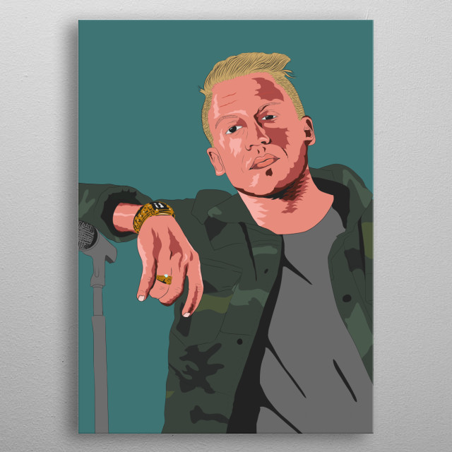 This is a high quality (300ppi) portrait of the famous musician, Macklemore. metal poster