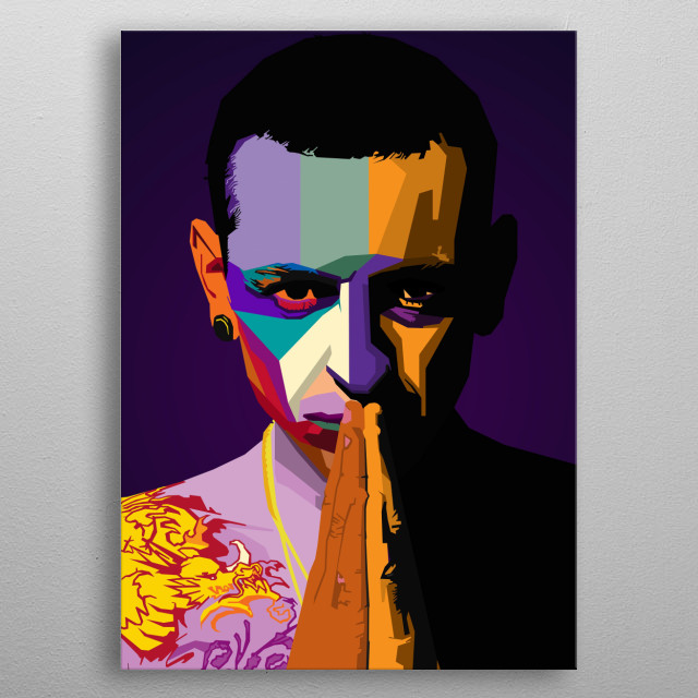 Chester Bennington HIPHOP WPAP Pop Art  metal poster