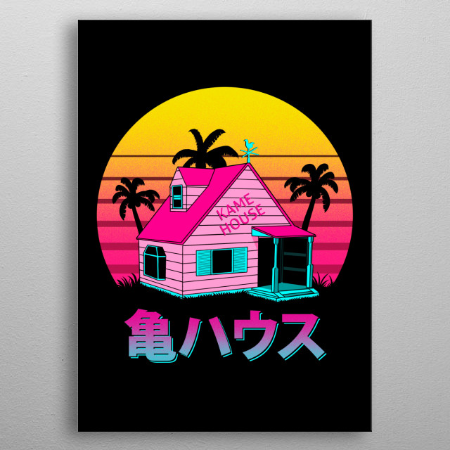 The Kame House in 80s style :) metal poster