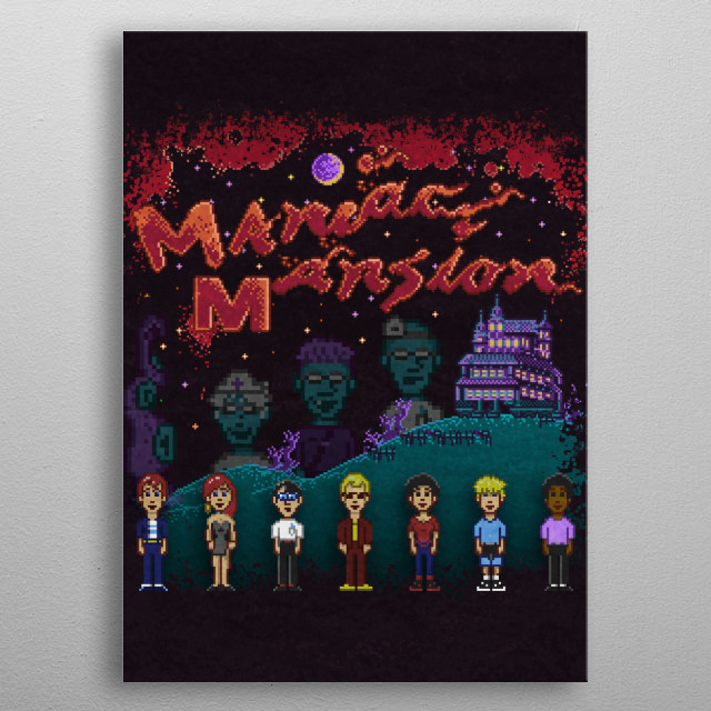 Mansion of Maniacs by Likelikes metal poster