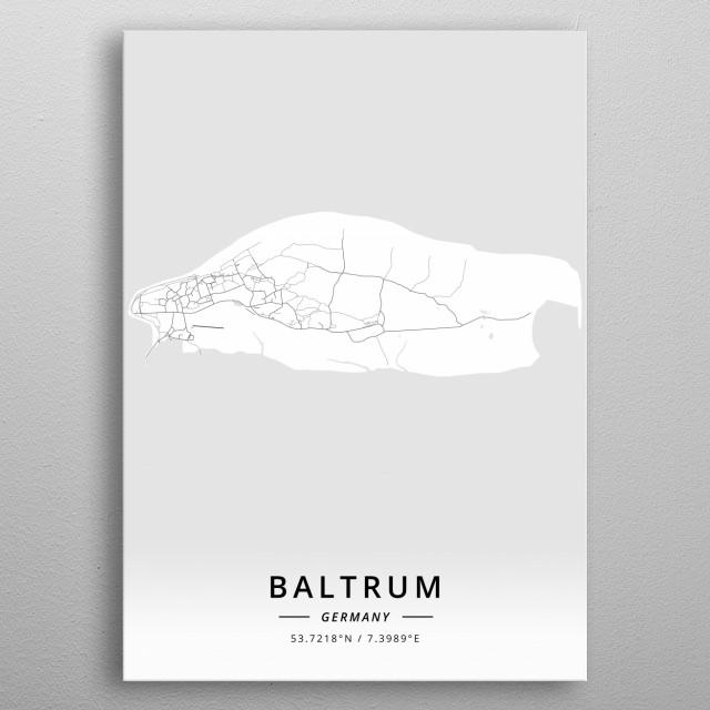 Baltrum, Germany metal poster