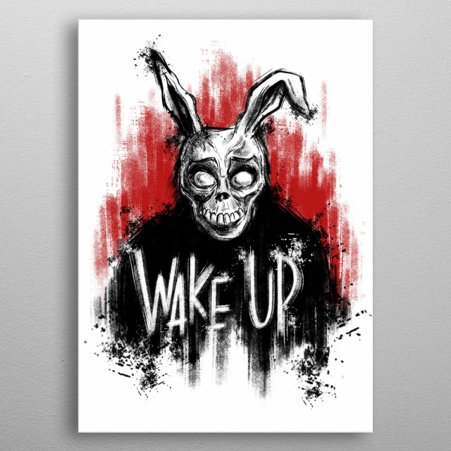 Donnie Darko inspired illustration metal poster