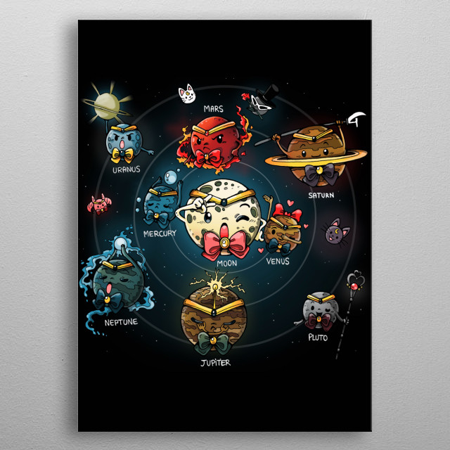 High-quality metal print from amazing Geeky collection will bring unique style to your space and will show off your personality. metal poster