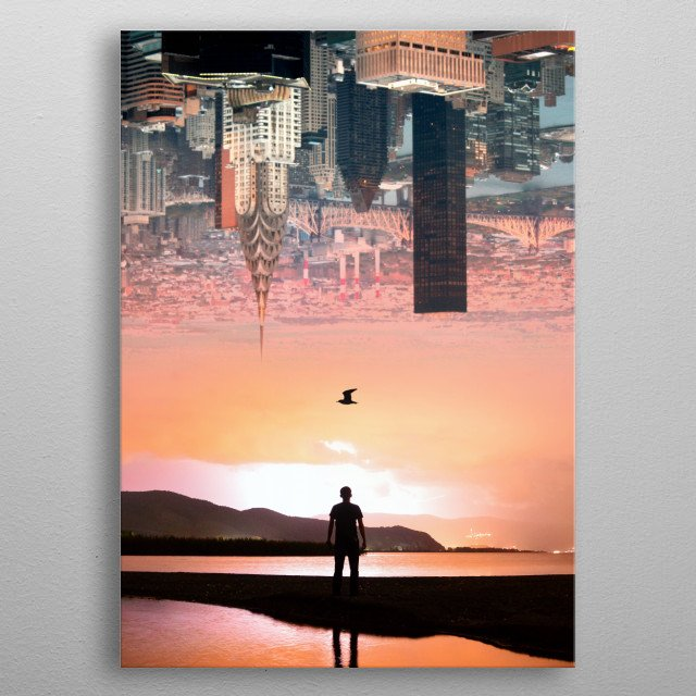 Cityscape metal poster