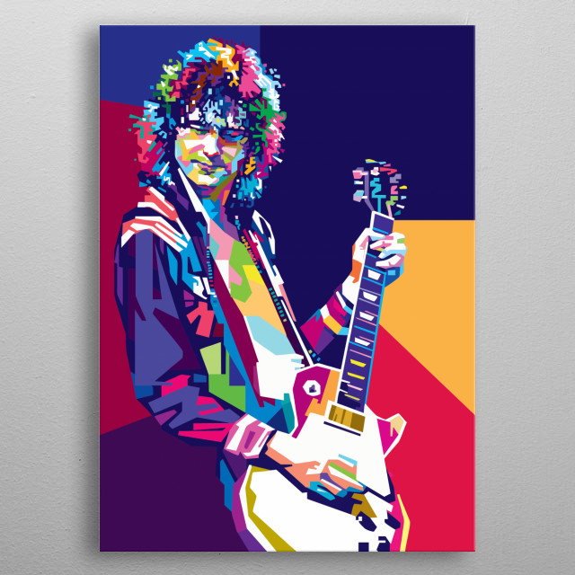 The Legend Jimmy Page in WPAP metal poster