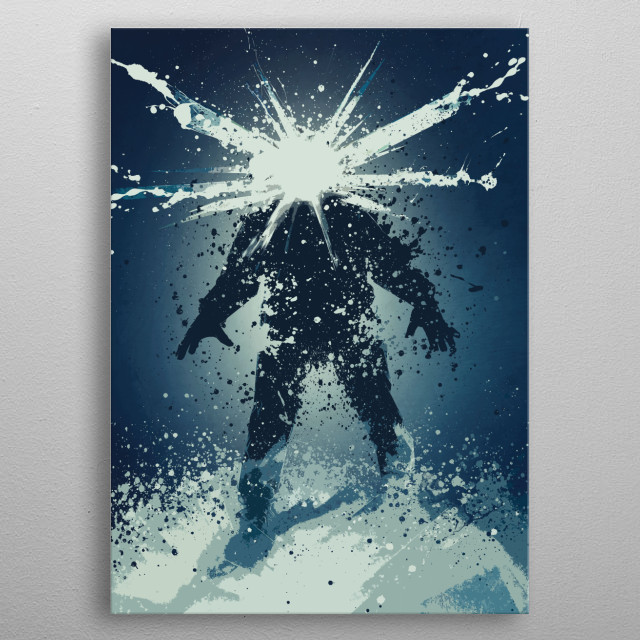 Splatter art work based on the Thing universe. metal poster