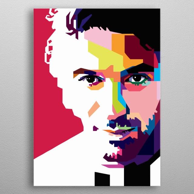 The Legends Alessandro Del Piero in WPAP metal poster