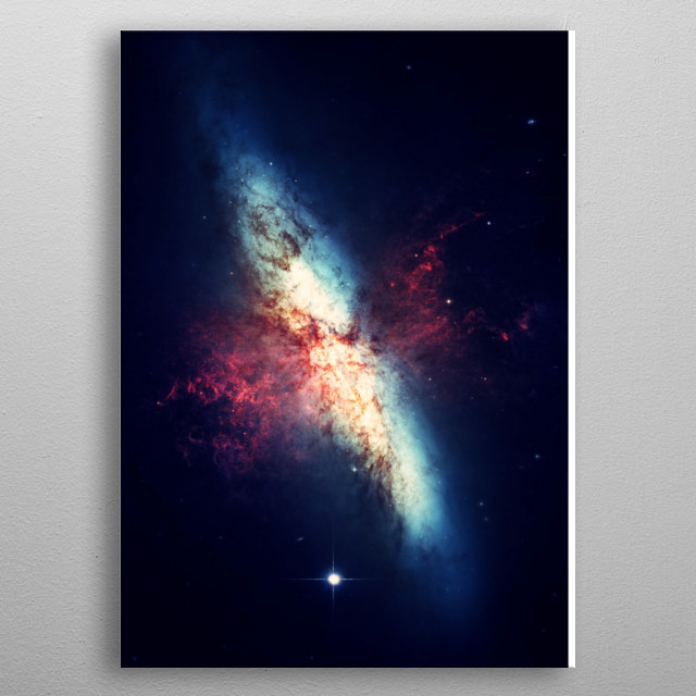 This is a photograph taken through a telescope. It shows planets and galaxies in space.  The best for astronomers and astrologers metal poster