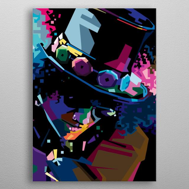 The Legend Slash in WPAP metal poster