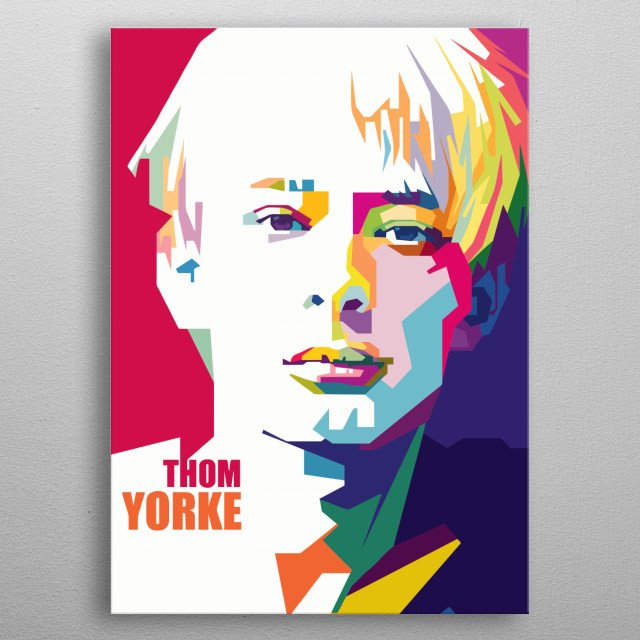 The Legend Thom Yorke in WPAP metal poster