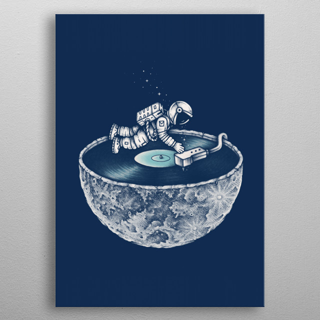 Space Tune metal poster