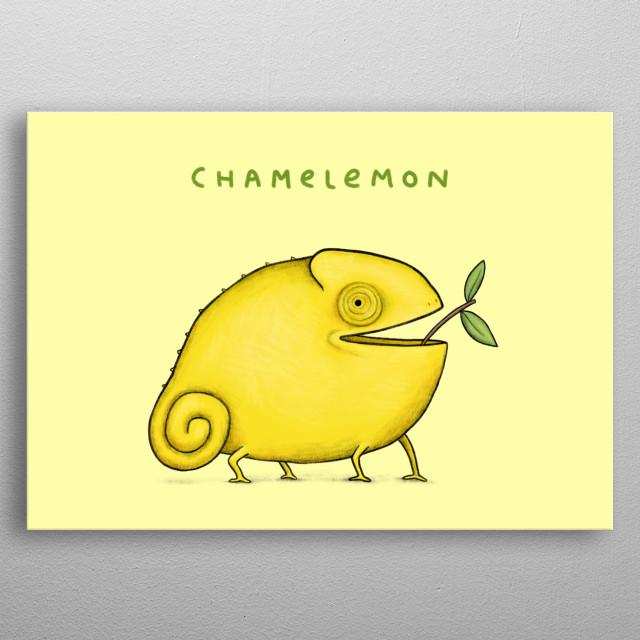 Chamelemon metal poster