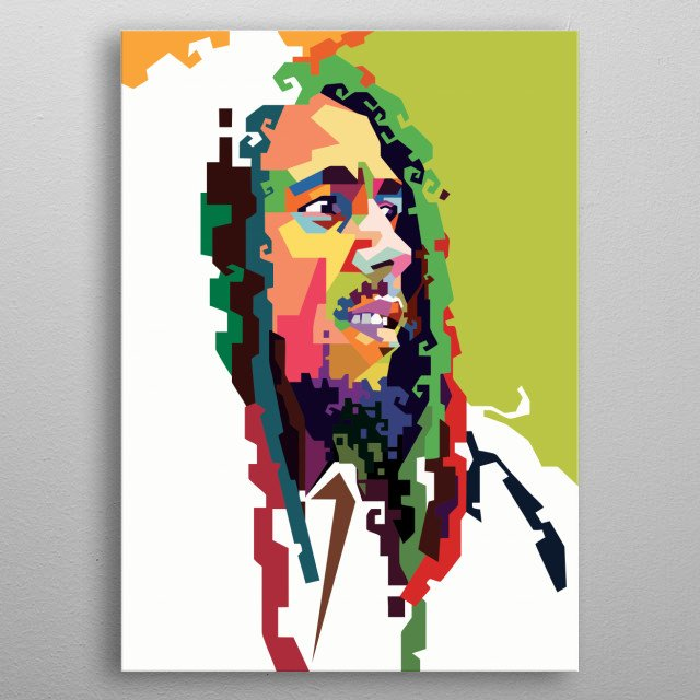 The Legend Bob Marley in WPAP metal poster
