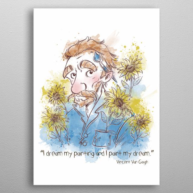 Vincent Van Gogh fanart metal poster