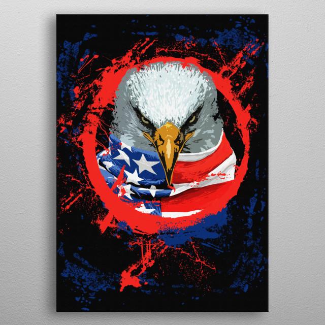 American Eagle metal poster