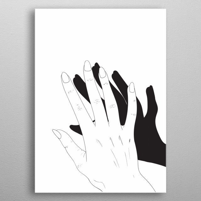 Hand Shadow metal poster