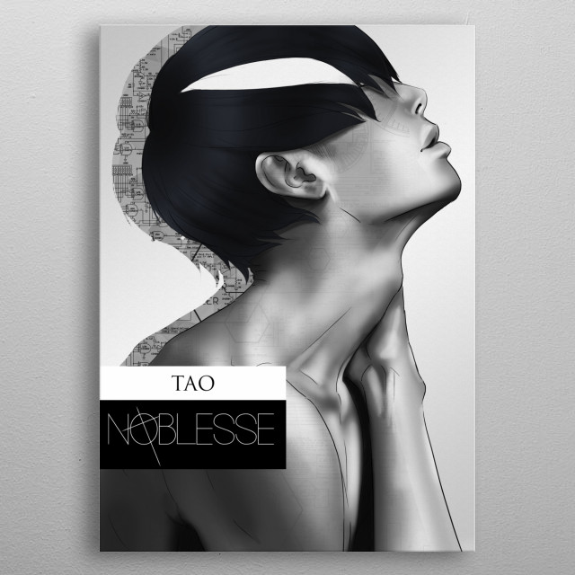 Hello, dear ones! Here's a fan art of Tao, character from the korean manhwa Noblesse. Hope you like him! metal poster