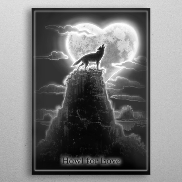 Howl For Love Abstract Poster Print Metal Posters Displate