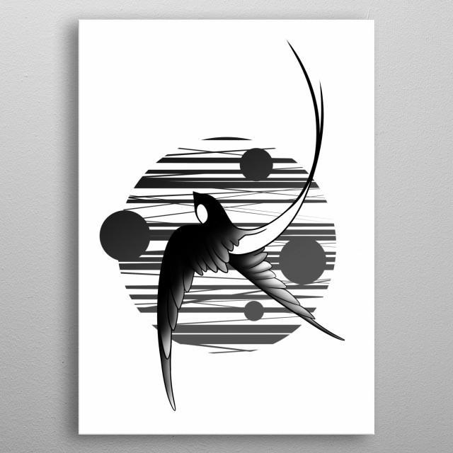 Ptashka bliattt na sonci metal poster