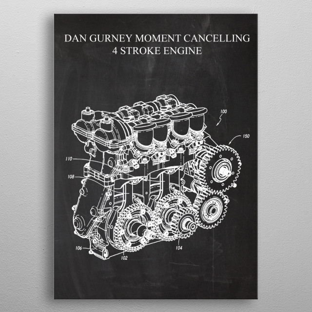 Dan Gurney Moment Cancelling 4 Stroke Engine metal poster