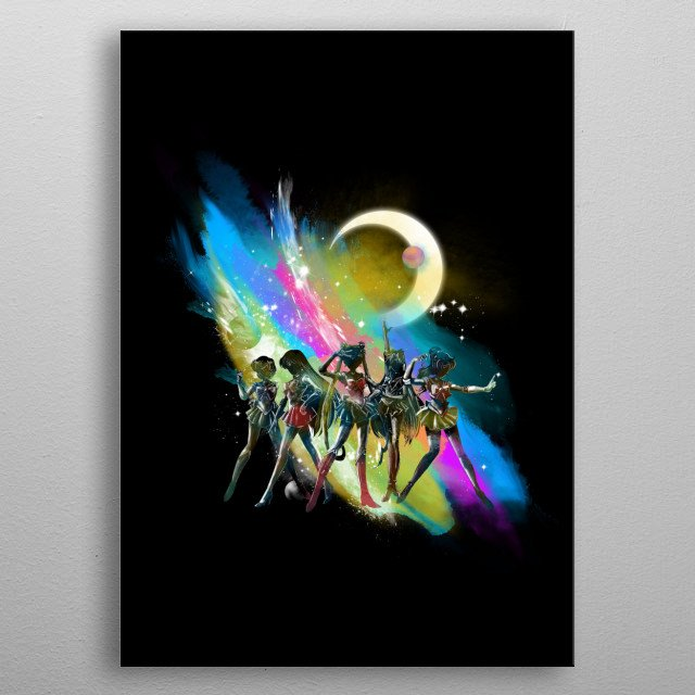 pretty guardians of the universe metal poster