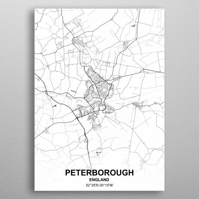 PETERBOROUGH  ENGLAND metal poster