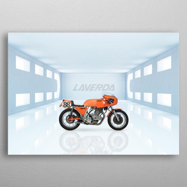 Laverda 750 SFC Elettronic Motorbike metal poster