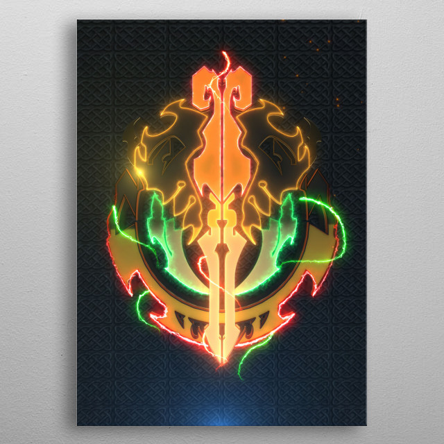 Videogames Collection  metal poster