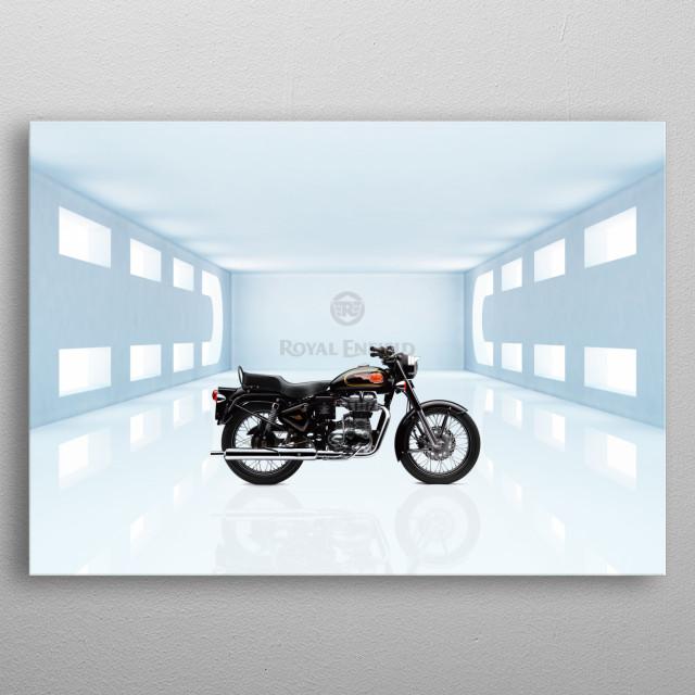 Royal Enfield Bullet 500 Motorbike metal poster