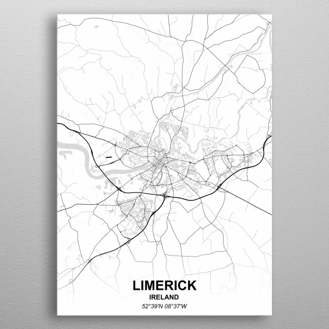 LIMERICK  IRELAND metal poster