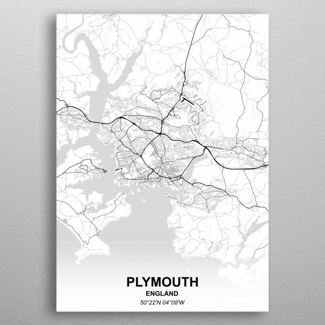 PLYMOUTH  ENGLAND metal poster