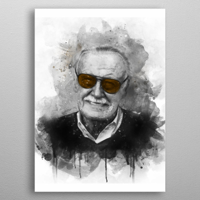 Stan Lee  was an American comic book writer, editor and publisher  metal poster