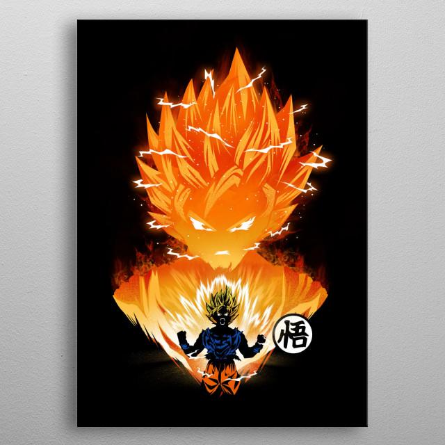 The Angry Super Saiyan metal poster