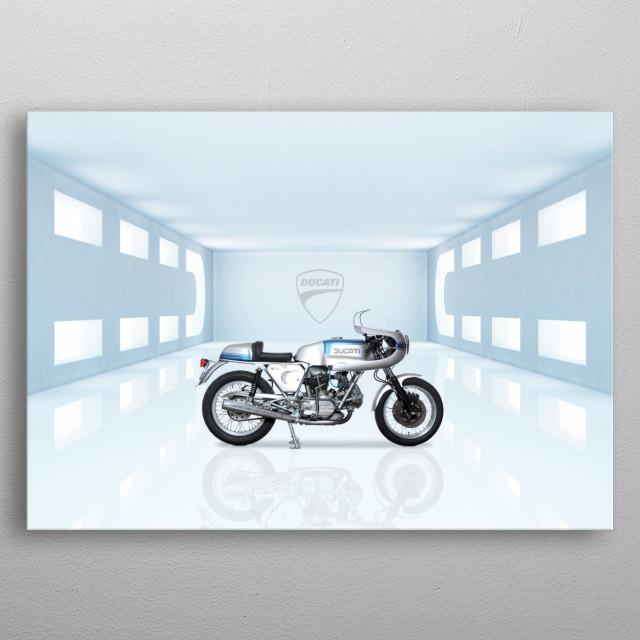 Ducati 750 Super Sport Motorbike metal poster